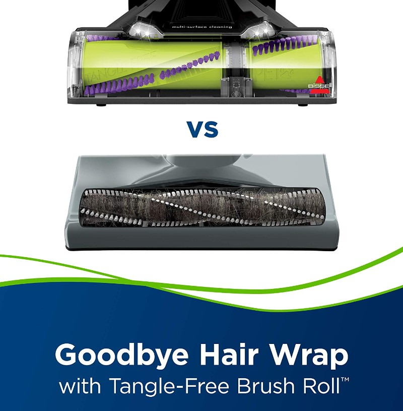 BISSELL Pet Hair Eraser Turbo Plus has an anti-tangle technology